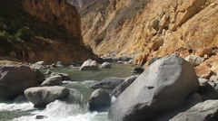 River in Colca canyon Stock Footage