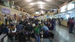 Interior of a bus terminal in Arequipa Stock Footage