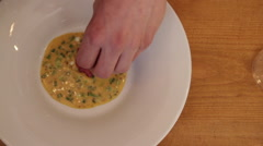 Preparation of tartare to serve visitors of the restaurant Stock Footage