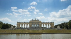 Time lapse of the Gloriette Stock Footage