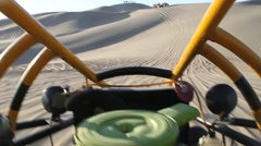 View from the sand dune buggy Stock Footage