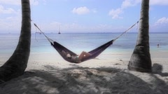 Relaxing in caribbean paradise - stock footage