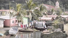Slums in caribbean coast Stock Footage