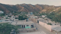 Slums in mountain valley Stock Footage