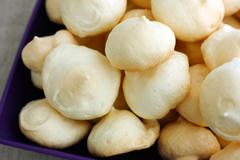 Homemade meringue cookies Stock Photos