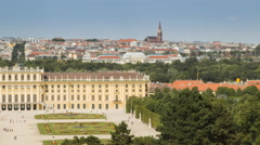 Time lapse of Schonbrunn Castle. Stock Footage
