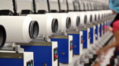 Modern Textile Mill Stock Footage