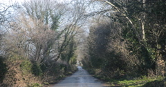 Country lane in Northern Ireland Stock Footage