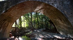 Medieval Venetian bridge in Cyprus Stock Footage