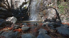 Waterfalls in Trodos mountains, Cyprus - stock footage