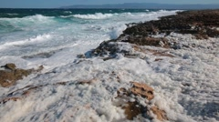 Waves in Cyprus Stock Footage