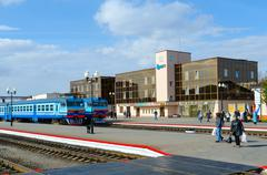 The landing platform of railway station in Mogilev, Belarus Kuvituskuvat