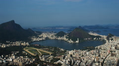 View of Rio de Janeiro, Brazil, as seen from the top of Dois Irmãos. Stock Footage