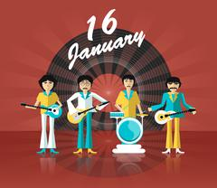Group of musicians - stock illustration