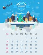 Calendar of december - stock illustration