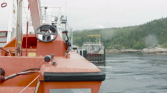 Life Safety Boat on a Ferry Stock Footage