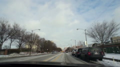 Time Lapse Drive through streets of South Side Chicago Stock Footage