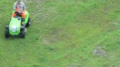 Motorized lawn-mower Stock Footage