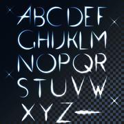 ABC vector light font letter design Stock Illustration