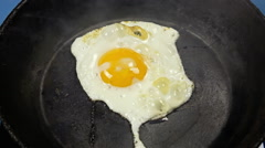 Egg overcooked Stock Footage