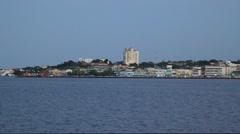 Skyline of Santarem city Stock Footage