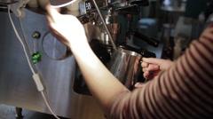 The beginning of preparing coffee Stock Footage