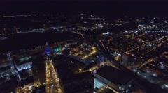 Albany NY Night Stock Footage