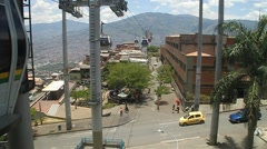 Medellin cable car Stock Footage