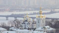 Ukraine, Kiev-Pechersk Lavra - stock footage