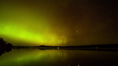 The beautiful northern lights move across the sky time-lapse Stock Footage