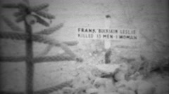 1948: Simple wooden graves of rebel outlaws of the wild west area.  GLENDALE, - stock footage