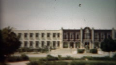 1948: Stately government building dominates local area. MEXICO CITY, MEXICO Stock Footage