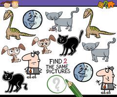 Preschool task for kids Stock Illustration