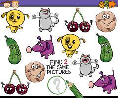 kindergarten task for children - stock illustration