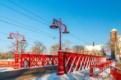 Wroclaw. Sandy Bridge Stock Photos