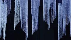 4K Shining crystal background. Crystal chandelier. Crystal stones. Slow motion. Stock Footage