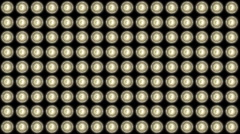 Panel of very bright stage lights Stock Footage