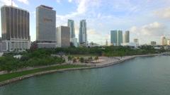 Aerial Bayfront Park Miami Stock Footage