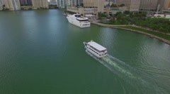 Boat tour in Miami Stock Footage