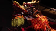 Traditional Dragon Dance Diorama Stock Footage