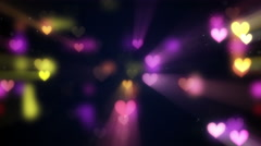 Shining heart shapes loopable love background 4k (4096x2304) Stock Footage