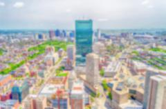 Defocused background with aerial view of Central Boston, USA Kuvituskuvat