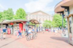 Defocused background of Harvard Square, Cambridge, USA Kuvituskuvat