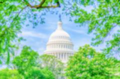 Defocused background of the United States Capitol building, Washington DC Stock Photos