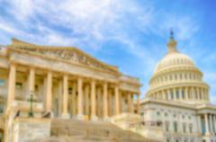 Defocused background of the United States Capitol building, Washington DC - stock photo