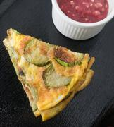Thai Cuisine and Food, Green Eggplant Omelet Served with Spicy Shrimp Paste D Kuvituskuvat