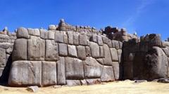 Massive stones in Inca fortress walls Stock Footage