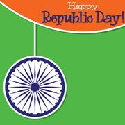 Bright string Indian Republic Day card in vector format.. - stock illustration