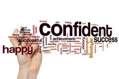 Confident word cloud concept - stock illustration