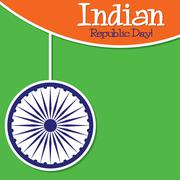 Stock Illustration of Bright string Indian Republic Day card in vector format..